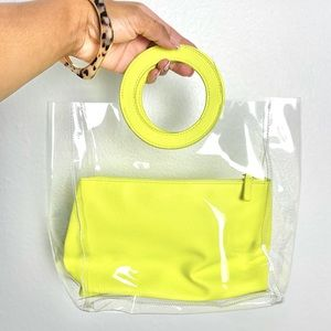 Mark Clear Tote hand bag in lime Retro Y2K style